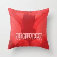 gucci Throw Pillows featuring NIGHTJUNKIE ELIZABETH/GUCCI by NIGHTJUNKIE