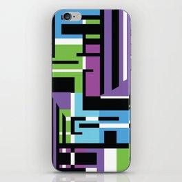 Purple Geometric iPhone Skin