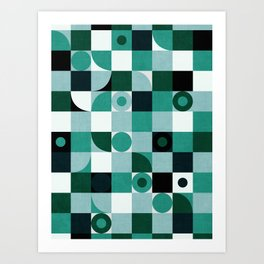 Green Chess Art Print