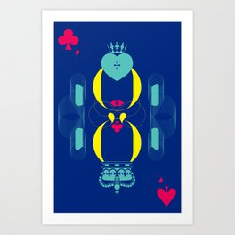 Color the King and Queen Art Print