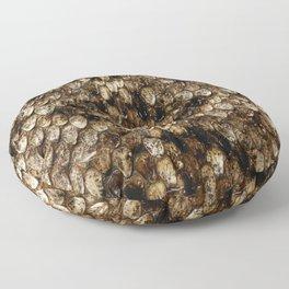 Faux Rattlesnake Skin Design Floor Pillow