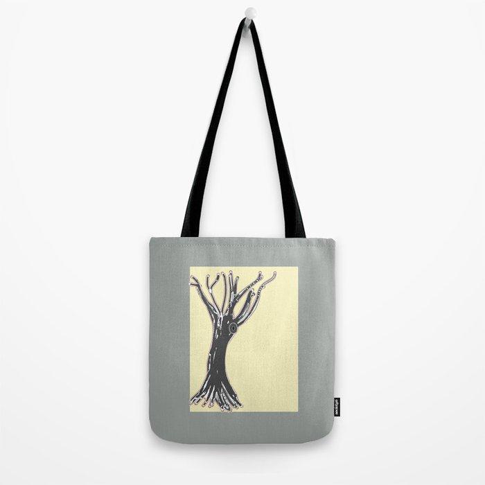 unblinking tree Tote Bag
