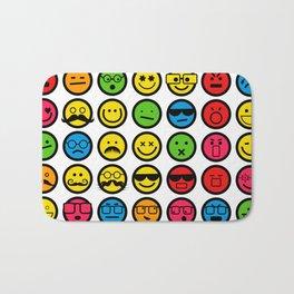 Emotional Emoticon Set Bath Mat