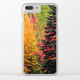 Deep in the Forest (Fall Colors) Clear iPhone Case