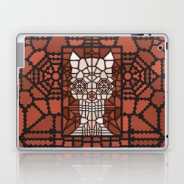 Demon skull voronoi Laptop & iPad Skin