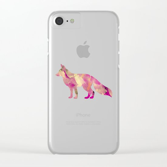 Abstract Fox Clear iPhone Case