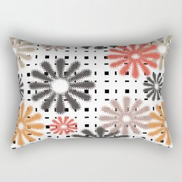 Abstraction. Colorful daisies background. Rectangular Pillow