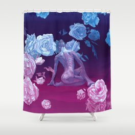Resting space Shower Curtain