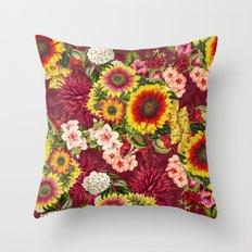 Summer Botanical Garden XV Throw Pillow