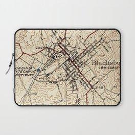 Vintage Map of Blacksburg Virginia (1932) Laptop Sleeve