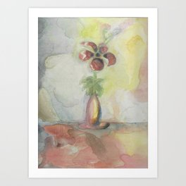 Water coloured flower Art Print