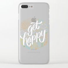 get happy Clear iPhone Case