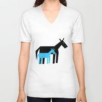 dad V-neck T-shirts featuring Thanks Dad by That's So Unicorny