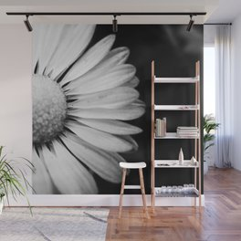 Black and White Flower Macro photography monochromatic photo Wall Mural