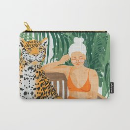 Jungle Vacay #painting #illustration Carry-All Pouch