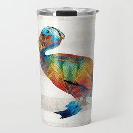 Colorful Pelican Art By Sharon Cummings Travel Mug