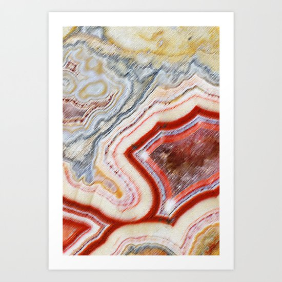 Marble Red Art Print