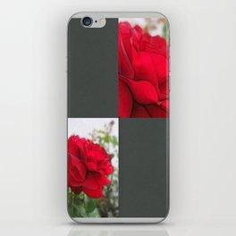 Red Rose Edges Blank Q6F0 iPhone Skin