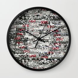 Ambulance Chaser (P/D3 Glitch Collage Studies) Wall Clock