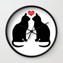 KPOP Cats Love Wall Clock