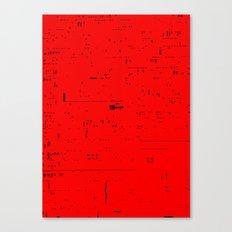 Typographic noise Canvas Print