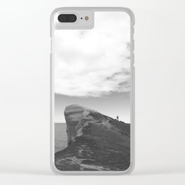 Tunnel Beach - black and white Clear iPhone Case