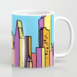 architecture art, new york city illustration, new york skyline, Coffee Mug