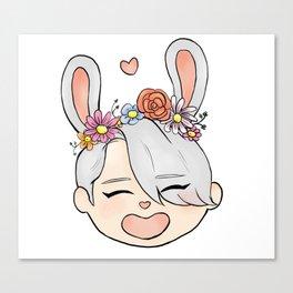 spring bunny victor Canvas Print