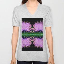 Double Symmetry Lonesome Flower Unisex V-Neck