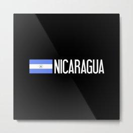 Nicaraguan Flag & Nicaragua Metal Print