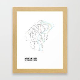 Mountain Creek, NJ - Minimalist Summer Trail Art Framed Art Print
