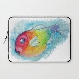 Rainbow Pufferfish Laptop Sleeve