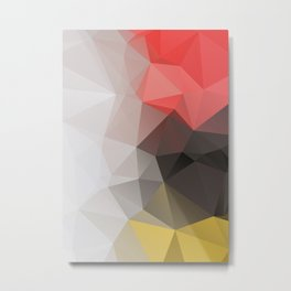 Lea – modern polygram illustration, wall art print Metal Print