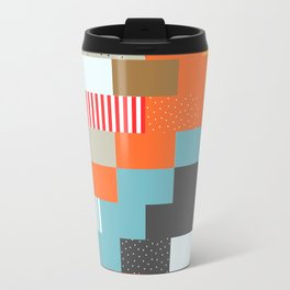 Colorful rectangles with dots Travel Mug