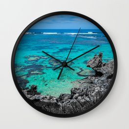 Beach in Turquoise Wall Clock