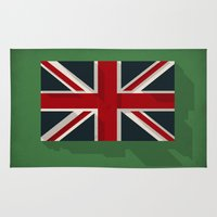 union jack Area & Throw Rugs featuring Union by rob art | simple