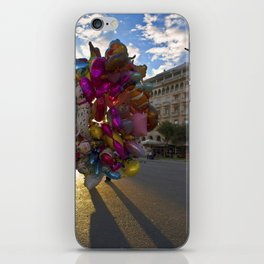 Urban Flowers Colorful Balloons at the Plaza iPhone Skin