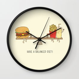 balanced diet Wall Clock