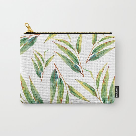 leaves watercolor pattern Carry-All Pouch