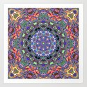 Colorful Mandala Abstract by perkinsdesigns