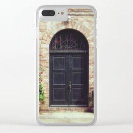 Courtyard Door Clear iPhone Case