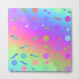 Rainbow Prism Colors Pattern Metal Print