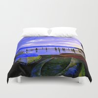 boats Duvet Covers featuring Boats by Esther Soendergaard