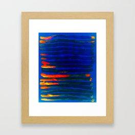 Midnight Blue Lava Lines, Our Earth Burn Marks Framed Art Print