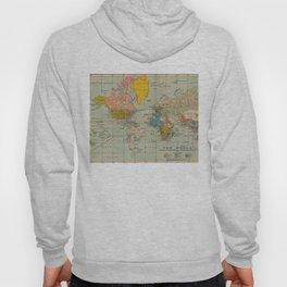 Vintage world map Hoody