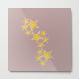 Golden stars Metal Print