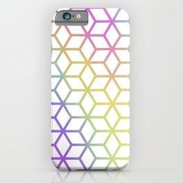 Rainbow Tiles iPhone Case