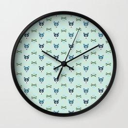 doggone it (mint) Wall Clock