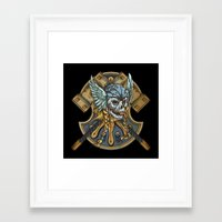 viking Framed Art Prints featuring Viking by Spooky Dooky