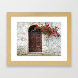 Italian Red Roses Framed Art Print